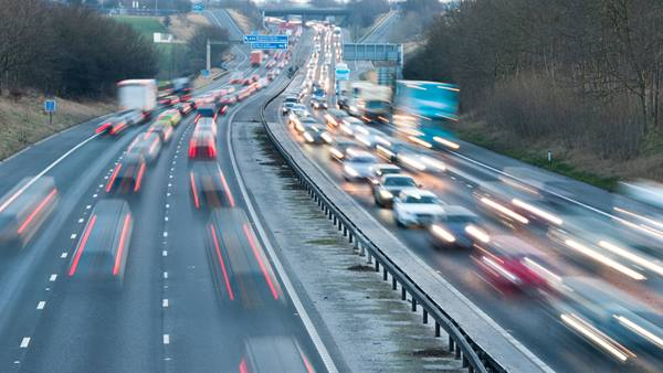 Heavy traffic on the M6 motorway in North West England. GettyImages-185331354