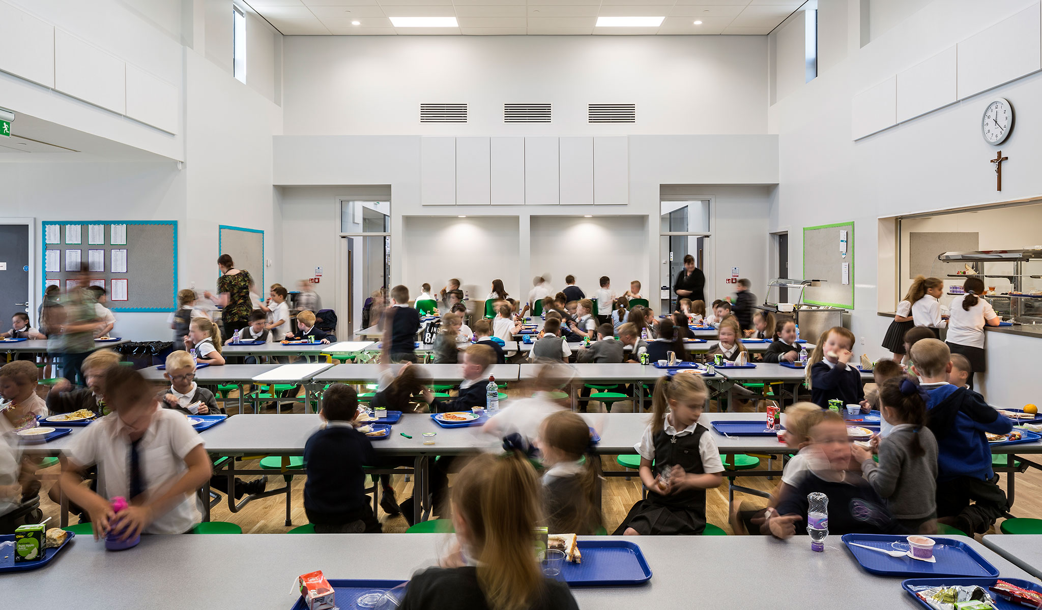 School cafeteria in UK