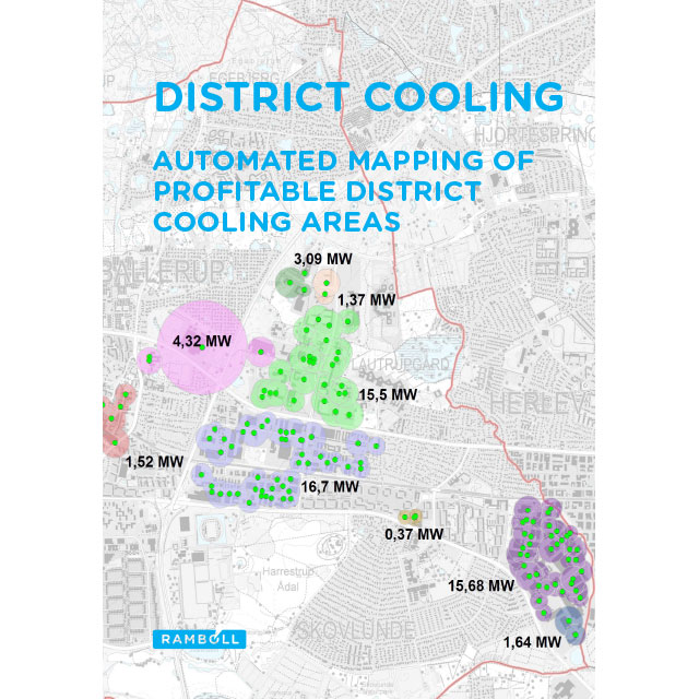 Front page of pamphlet on automated mapping of district cooling customers
