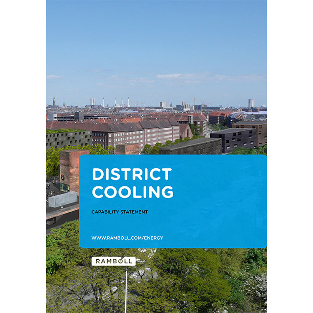 Front page of district cooling capability statement