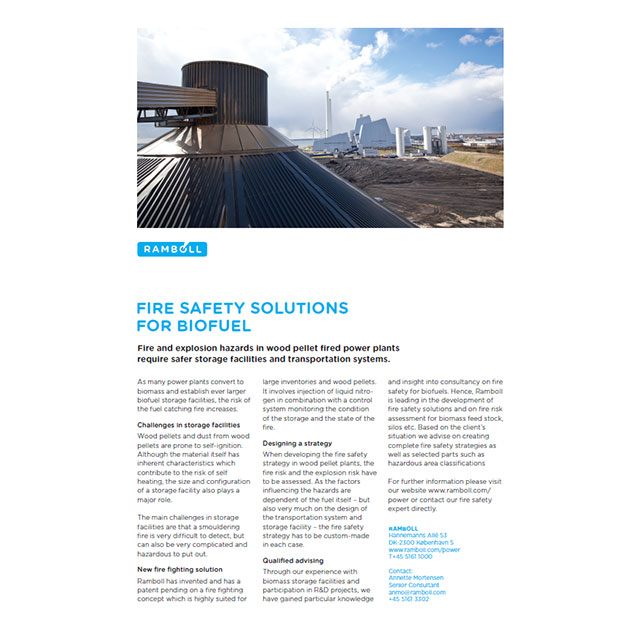 Fire safety for biofuel