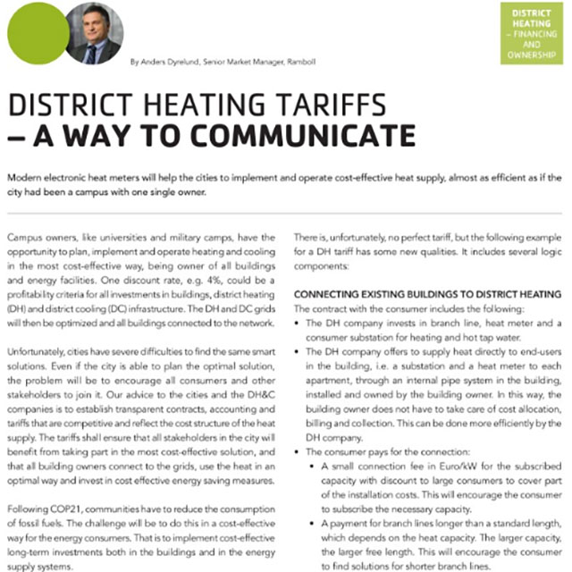 District Heating Tariffs - a way to communicate