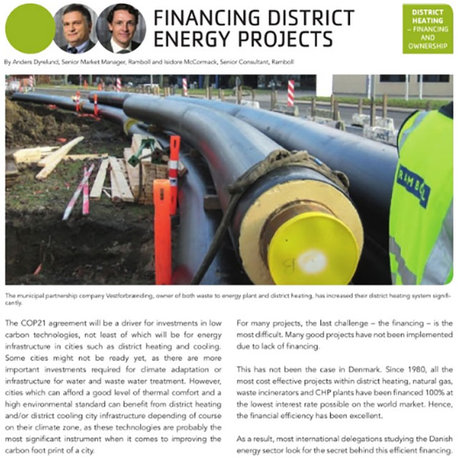 Financing district energy projects
