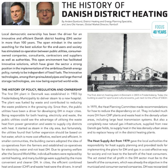 The history of Danish district heating