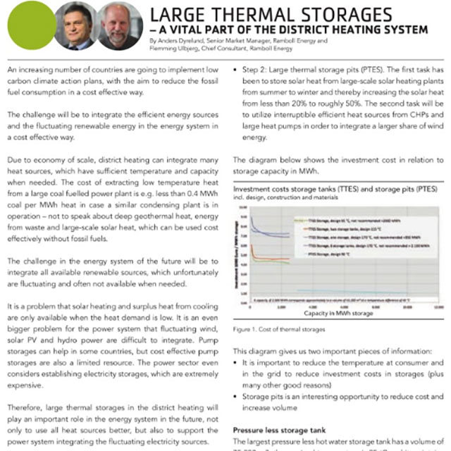 Large thermal storages