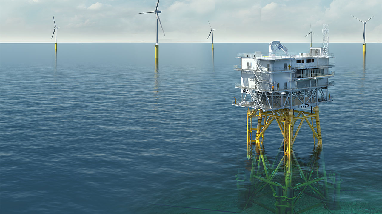 Visualisation of Substation for Westermost Rough Offshore Wind Farm