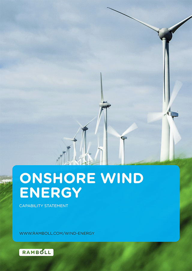 Front page of onshore wind energy brochure
