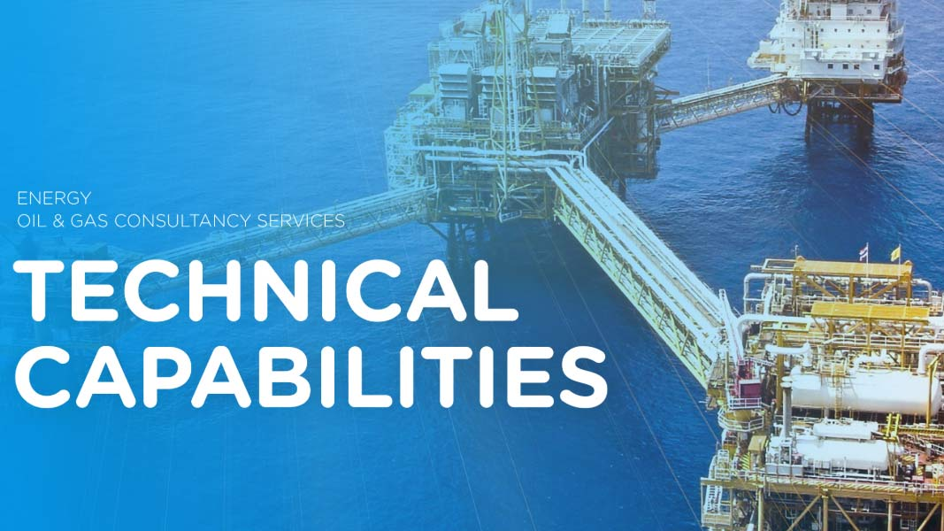 Front page of technical capabilities brochure with a platform