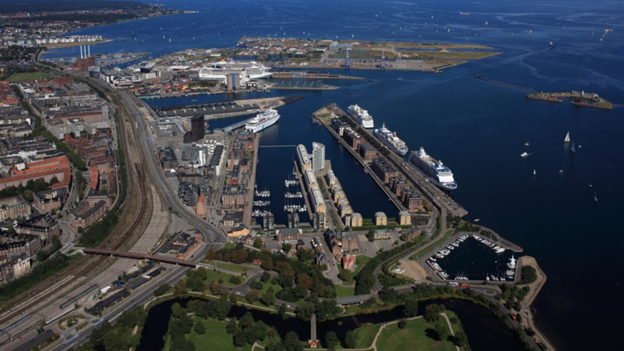 Aerial view of CPH Harbour