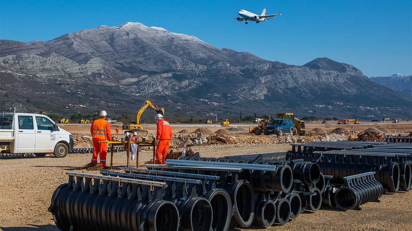 Dubrovnik airport contruction
