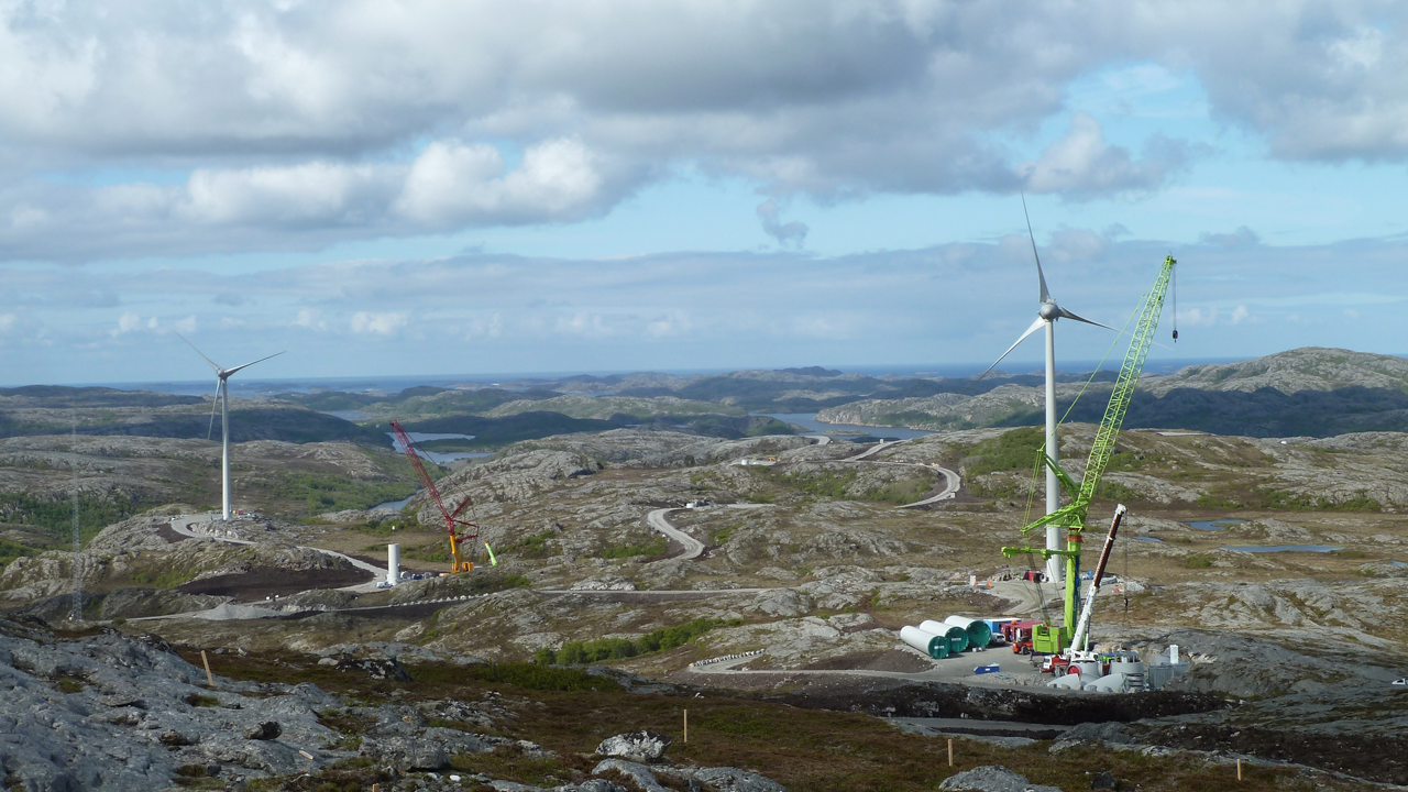 Sarepta onshore wind farm, Norway. Photo credits: Sarepta