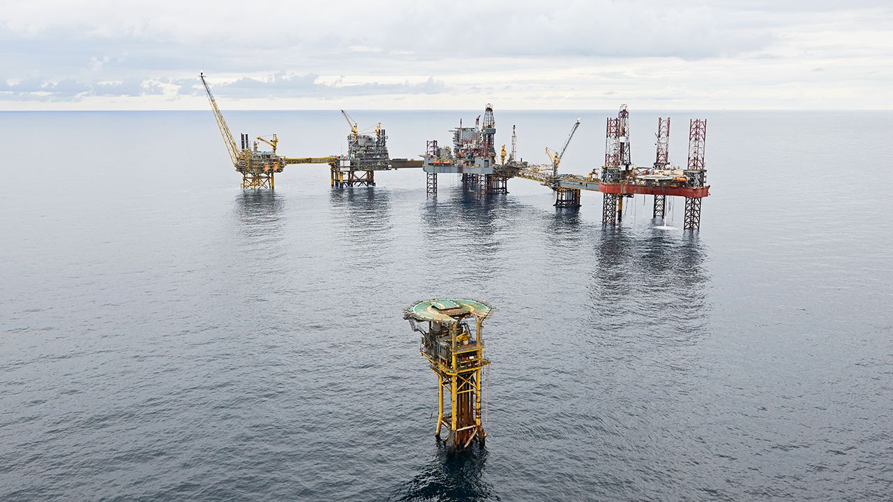 The Dan complex in the North Sea. Photo: Maersk Oil