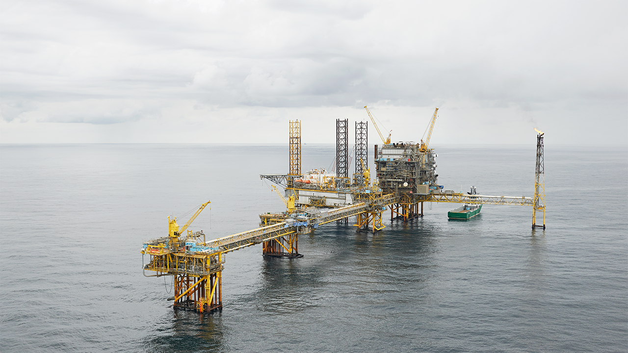 The Maersk operated Tyra East platform in the Danish North Sea. Photo courtsey of Maersk Oil