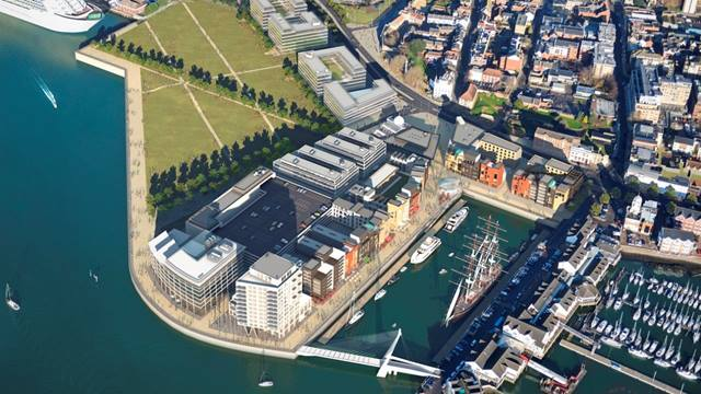 Royal Pier Waterfront, Southampton. Ramboll has completed the EIA and detailed design for this major development marine platform involving reclamation and creation of an additional 5.5ha of land and high quality public realm. The project also includes re-provision of a full new ferry facility for Red Funnel Ferries.