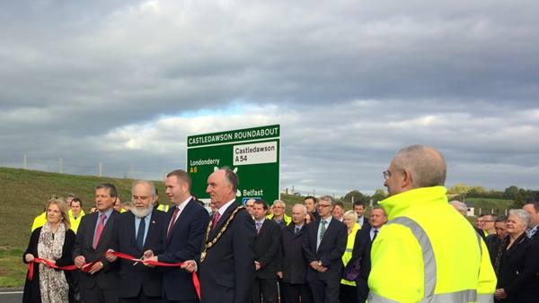 Official opening of the A31 Magherafelt bypass, Northern Ireland. Ramboll