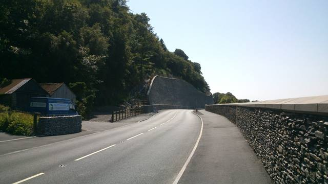 Barry Williams, Ramboll. After construction - A487 Bangor to Fishguard Trunk Road Improvement at Glandyfi.