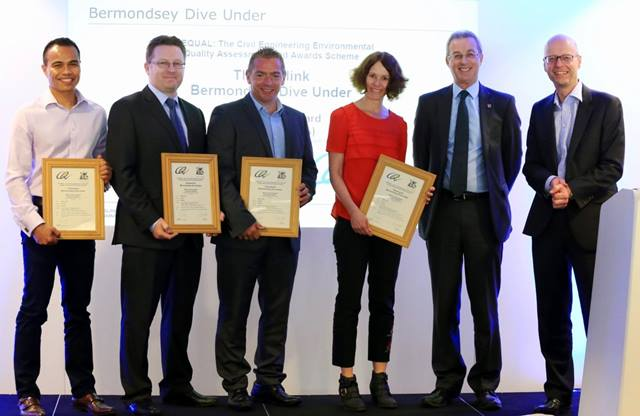 CEEQUAL. The project team from Network Rail, Ramboll and Skanska were presented the CEEQUAL Excellent Whole Team Award of 96.6% having increased biodiversity in the area by 113%. The score is the highest that has been achieved to date by a completed project on the Thameslink Programme. May 2017