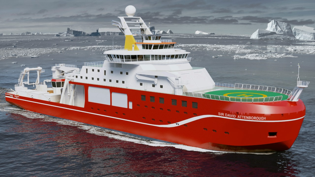 Ramboll. RRS Sir David Attenborough. Image courtesy of British Antarctic Survey