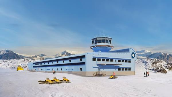 BAS Science and Operations Building at Rothera Research Station. Image HBA