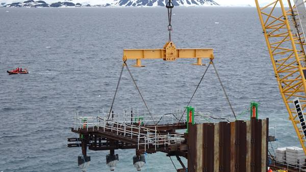 Rothera Research Station new wharf. Image: BAM