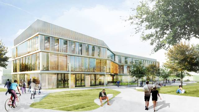 Artist impression of Shared Facilities Hub, University of Cambridge. Image: Jestico + Whiles