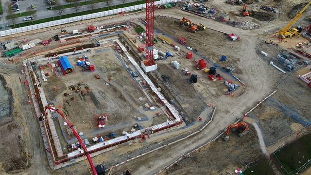 Aerial view of basement excavation. Image: AERO Drone Surveys