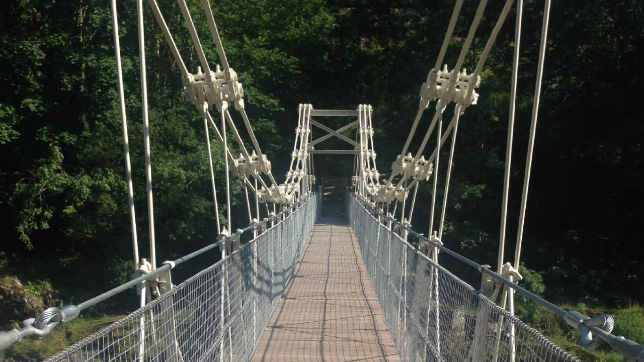 Chain bridge restoration project at Llangollen, Wales, UK. Ramboll