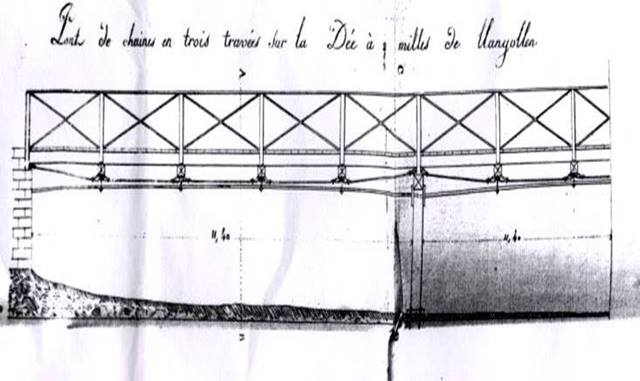 Sketch of the bridge completed by a French Spy.