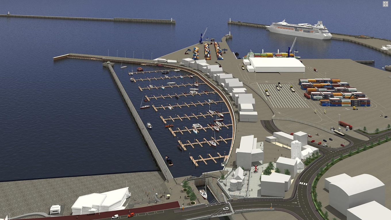 Artist impression -Dover Western Docks Revival. Image: Port of Dover