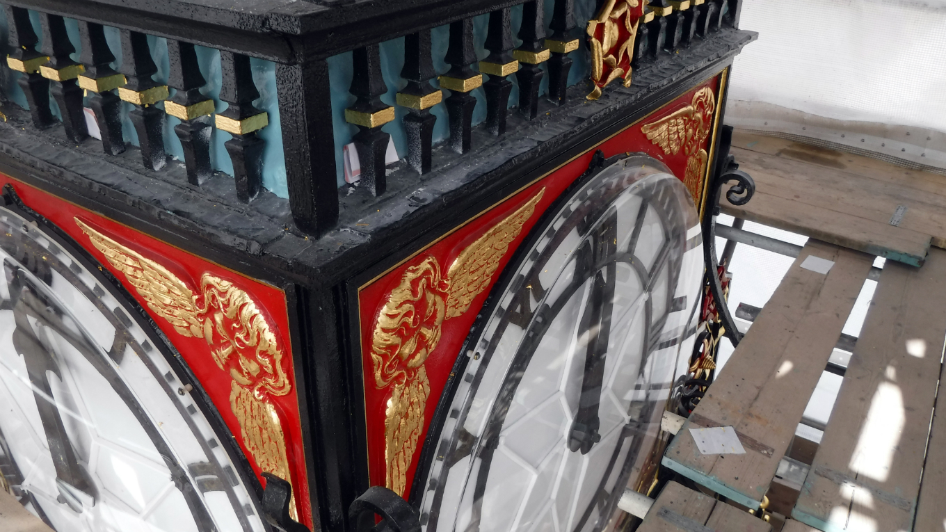 Working on the Eastgate clock