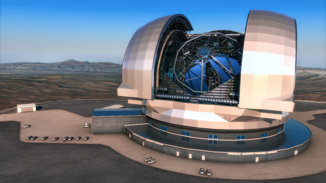 Extremely Large Telescope (credit: ESO/L. Calçada)