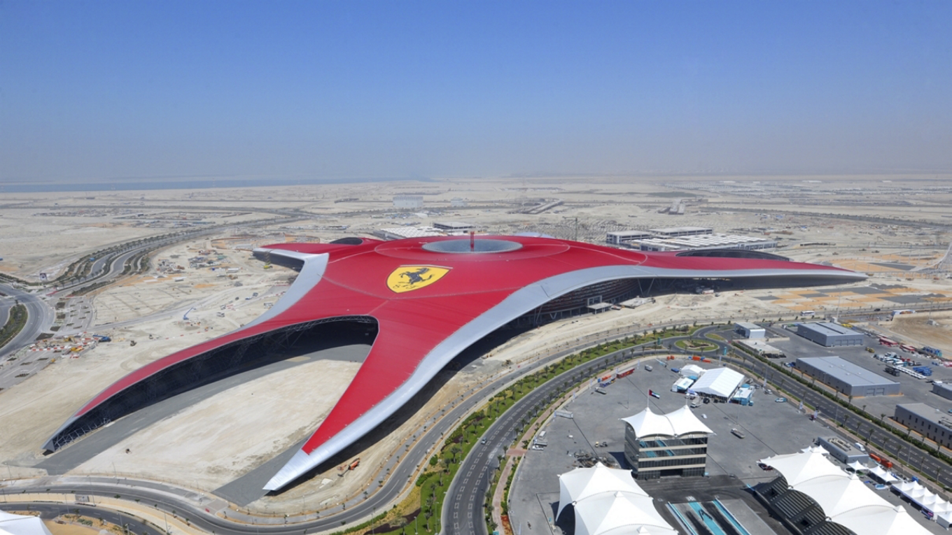 roof of Ferrari World Abu Dhabi