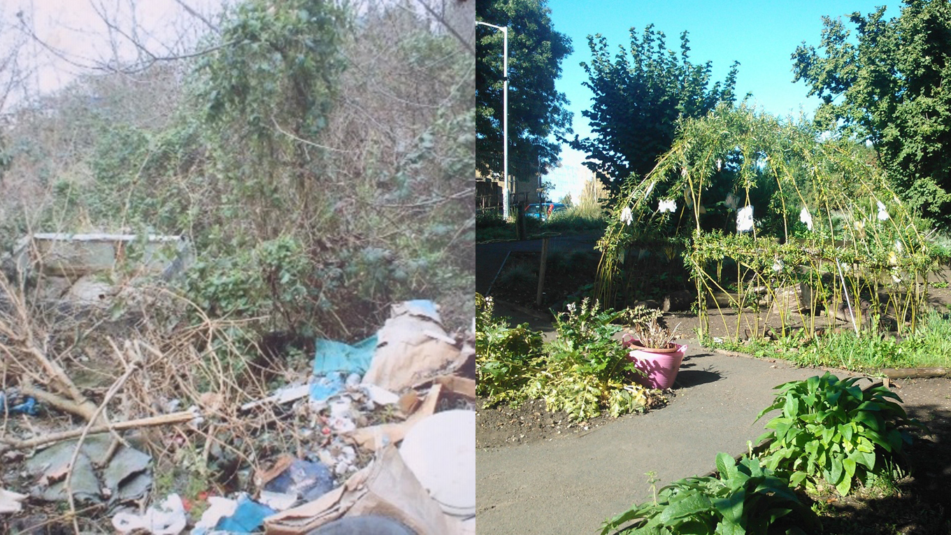 On a site previously used for fly tipping, Frendsbury Gardens has grown into a vital shared space and wildlife garden