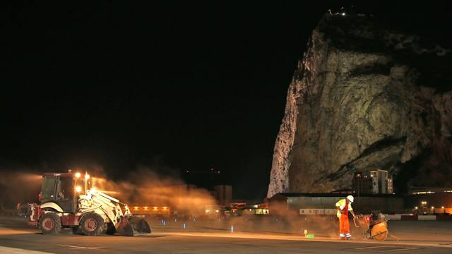 Chris Tovell (Ramboll Gibraltar Clerk of Works). All resurfacing works were undertaken overnight between 10pm and 10am to allow Gibraltar airport to remain fully operational throughout the day and to minimise disruption to flights.