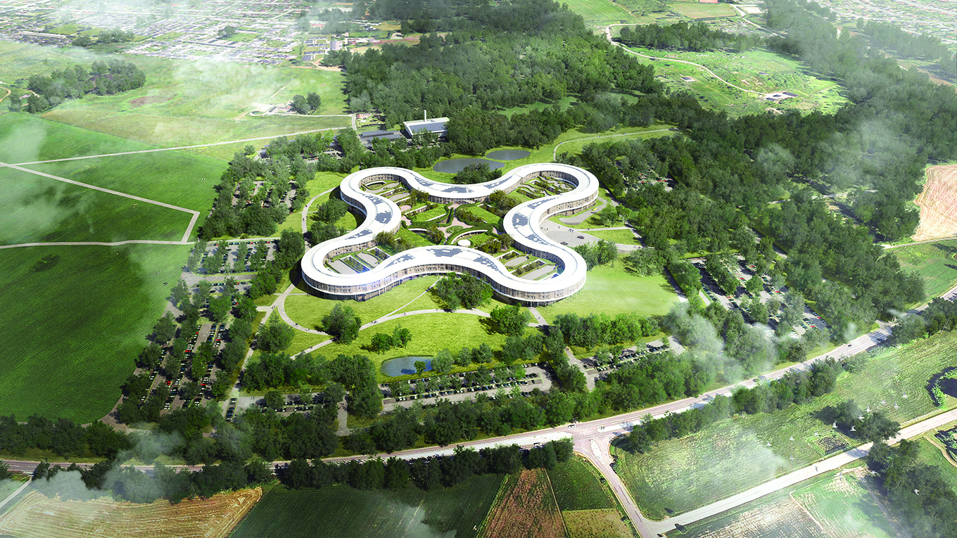 New North Zealand Hospital, Aerial View - Image courtesy of Herzog & de Meuron