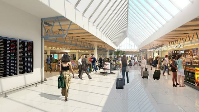 Artist's impression of the new departures area at Jersey airport . Image courtesy of Ports of Jersey