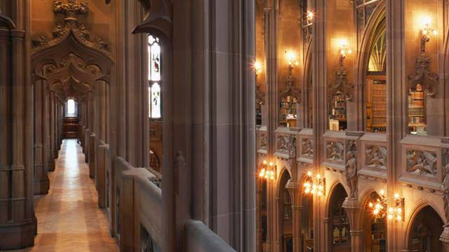 University of Manchester Library: The Historic Reading Room of The John Rylands Library