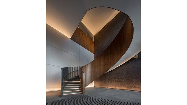 Daniel Shearing. King's Cross Central Development. Plimsoll Building entrance staircase