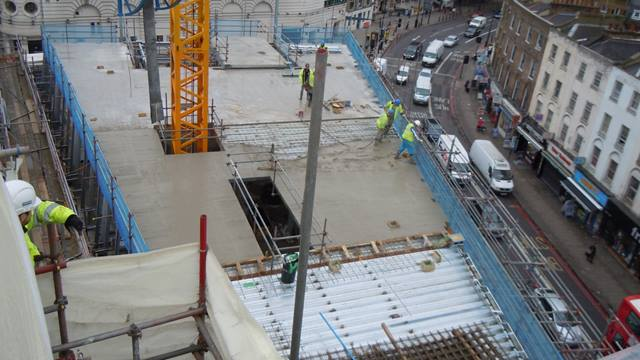 Pouring of the 4th floor slab. Image: Ramboll