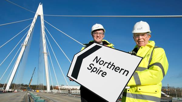 The official name of the new bridge in Sunderland has been revealed as Northern Spire. Photo: TOM BANKS