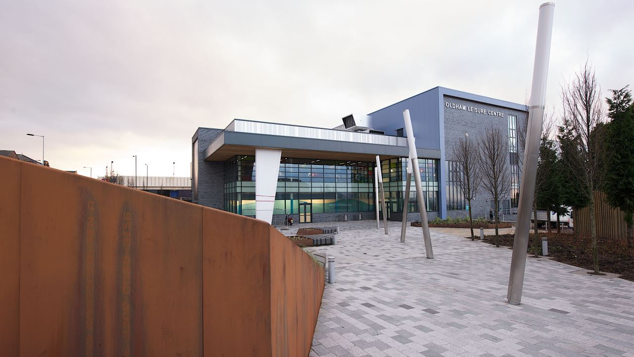 Ramboll. Oldham Leisure Centre. Image: Courtesy of Willmott Dixon. Photographer: Christian Smith