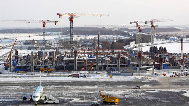Pulkovo Airport in construction throughout the extreme Russian winters, made possible with an innovative Ramboll solution.