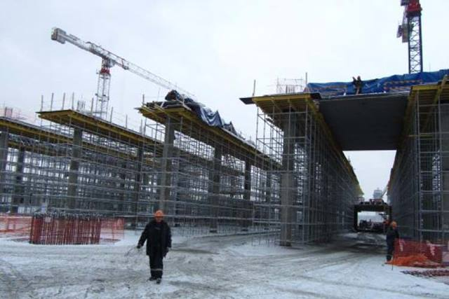 Main Terminal Under Construction Winter 2011