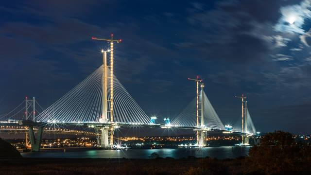 Bastian Kratzke. Image courtesy of Transport Scotland. The Queensferry Crossing under-construction September 2016