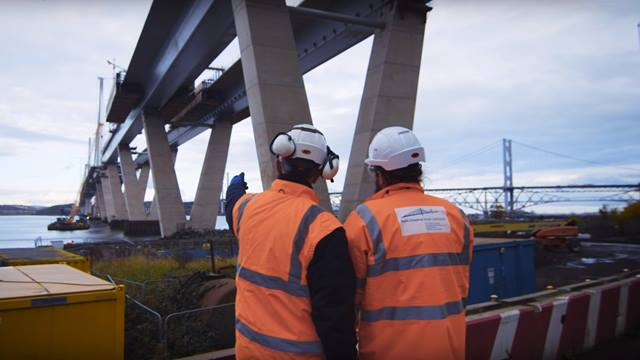 The Queensferry Crossing, Scotland UK. Six years in the making. Many people put a lot of effort into delivering this magnificent structure. Source: Ramboll video