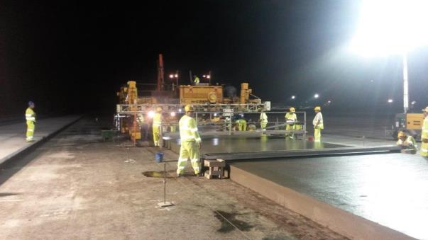 Ramboll. Laying pavement quality concrete (PQC) during a seven hour night–time possession