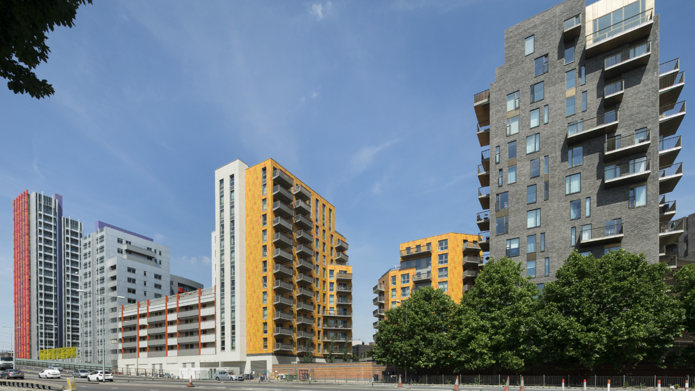 The three phases of the Rathbone Market development bordering A13