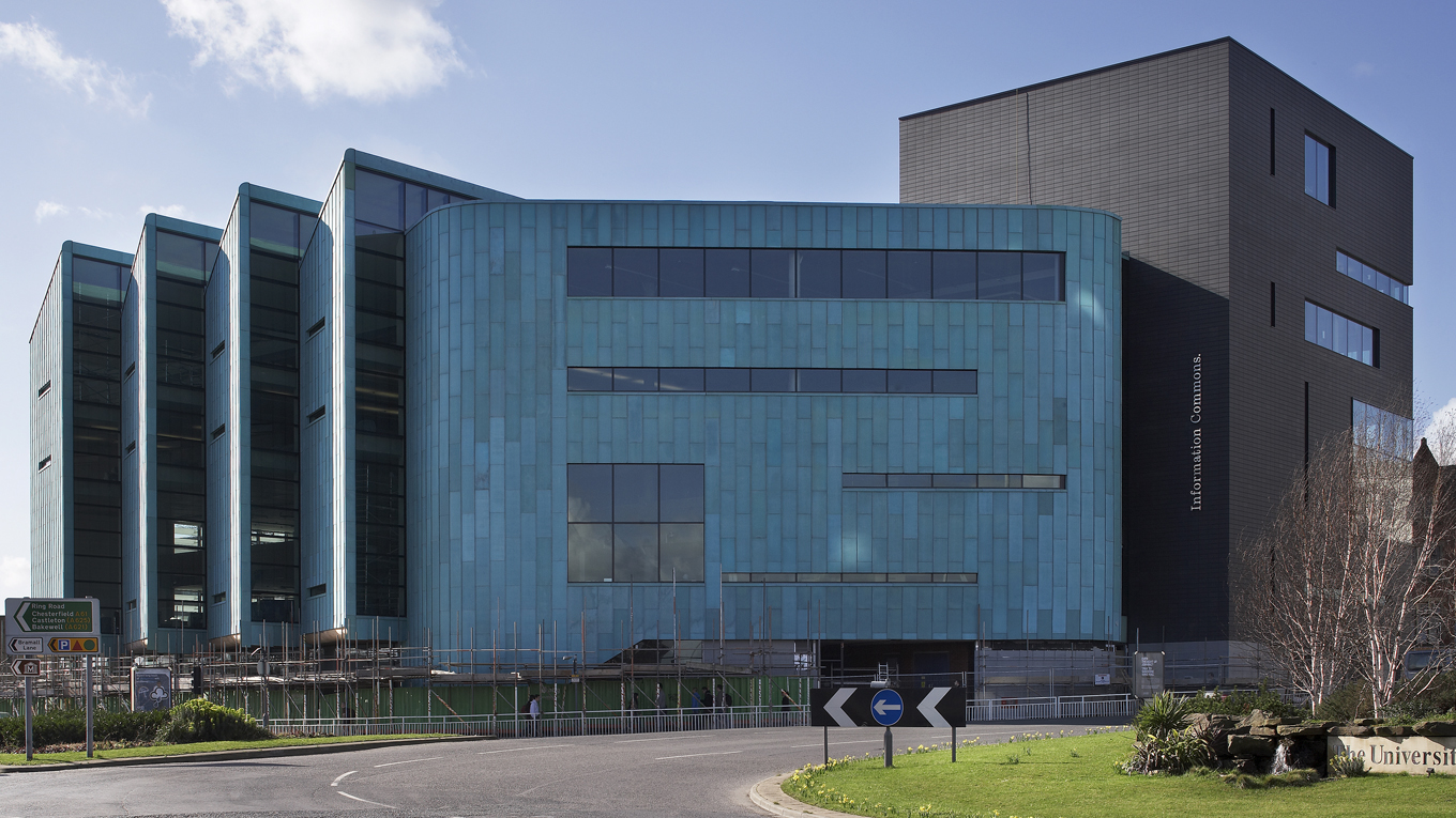 Sheffield University, Resource Centre. Image: RMJM
