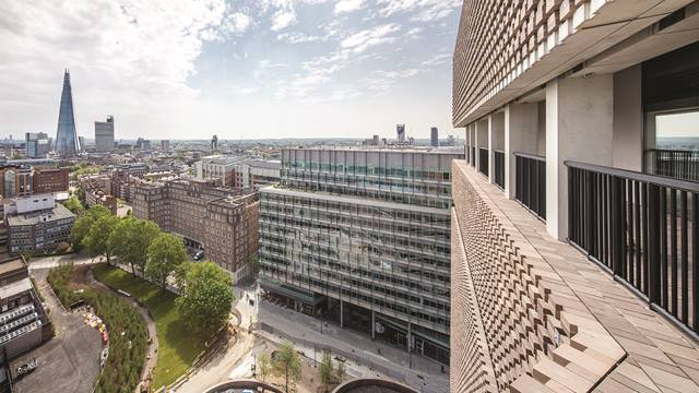 View from Blavatnik Building roof terrace. Image: Daniel Shearing