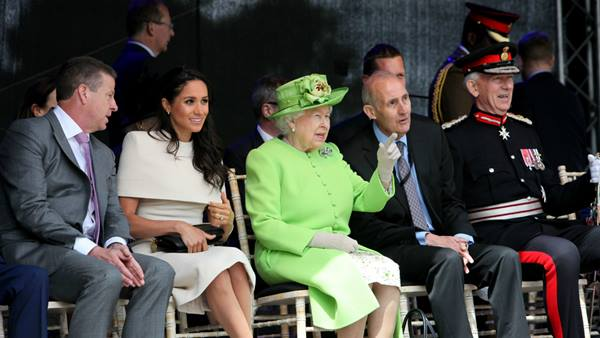 The Queen and Duchess of Sussex enjoying the Mersey Gateway Opening
